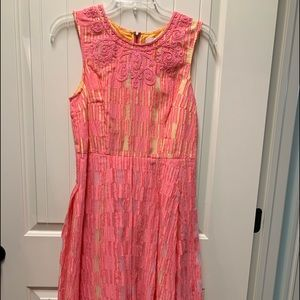 Tracy Reese dress peach & yellow